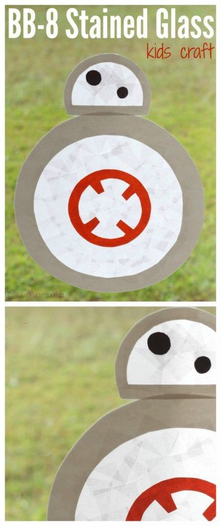 Easy BB-8 kids craft