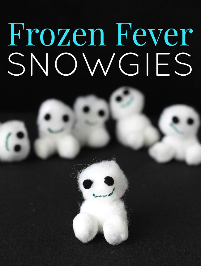 DIY Disney frozen fever snowgies kids craft