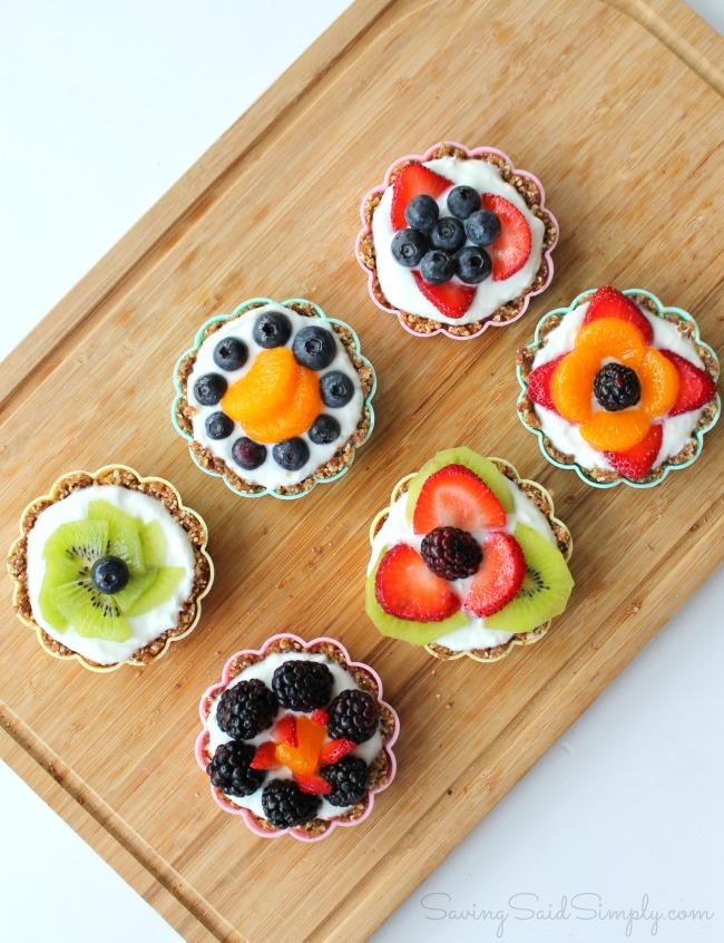 Gluten free mini fruit tarts