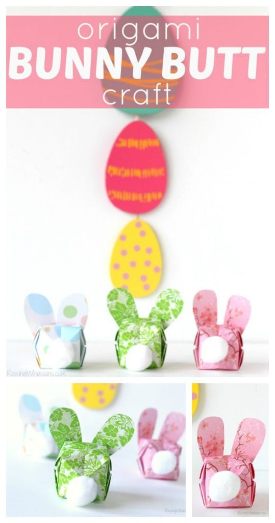Origami Easter kids craft
