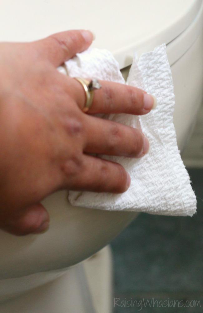 Easy Natural Toilet Cleaner + 6 Bathroom Toilet Cleaning Tips | DIY Lemon Rosemary Natural Toilet Bowl Cleaner + 6 tips for spring cleaning your toilet #Cleaning #DIY