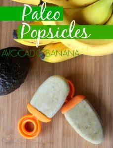 Paleo avocado popsicles