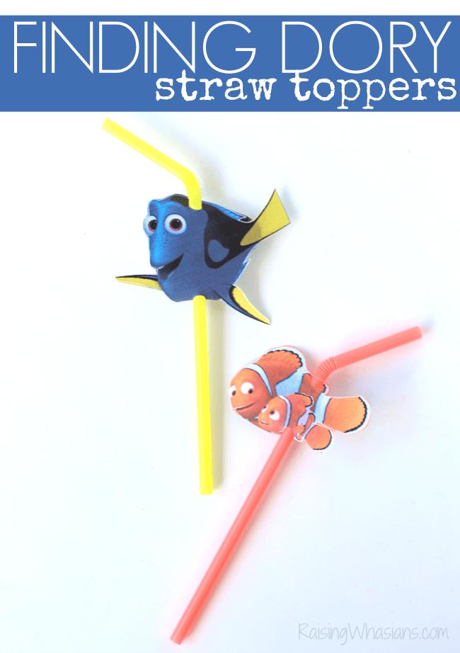 Finding Dory straw topper idea