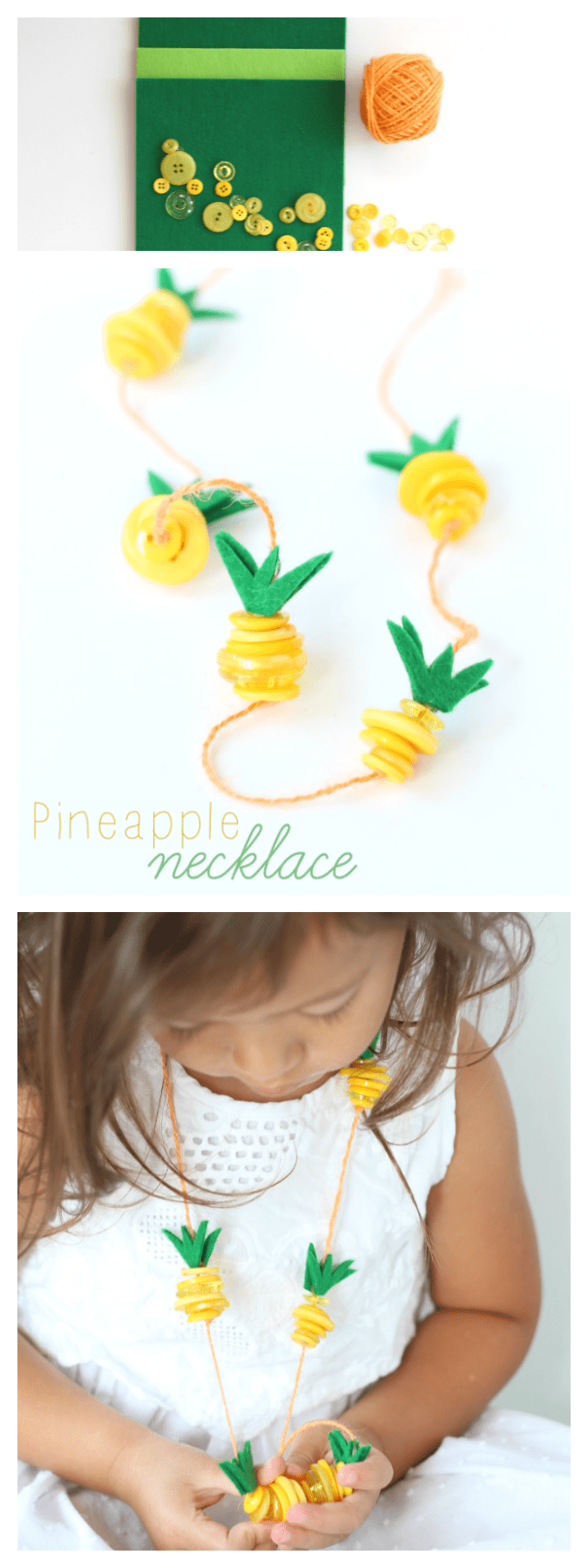Pineapple necklace kids craft pinterest