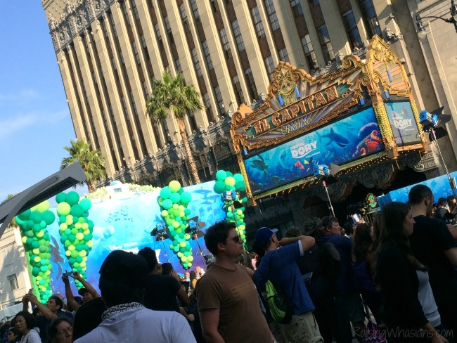 Walking the finding Dory red carpet premiere