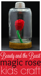Beauty and the beast rose craft