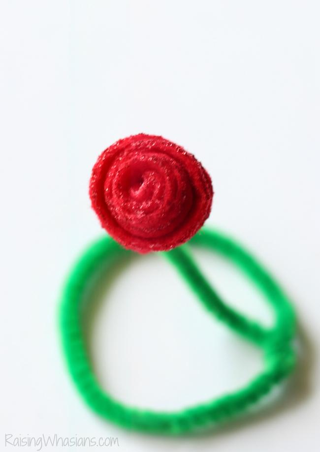 Rose kids craft tutorial