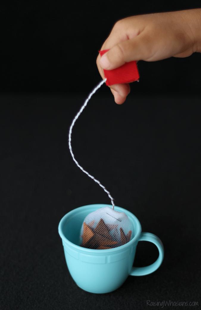 Pretend tea bags diy