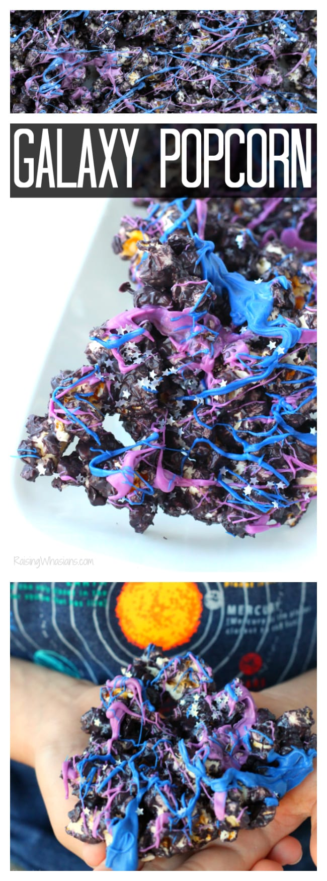 Galaxy Popcorn and Ice Age: Collision Course Movie Night | Easy galaxy snack idea for your next space themed party + Ice Age: Collision Course Blu-Ray Space themed movie night popcorn recipe - #Recipe #FamilyMovieNight #Snack