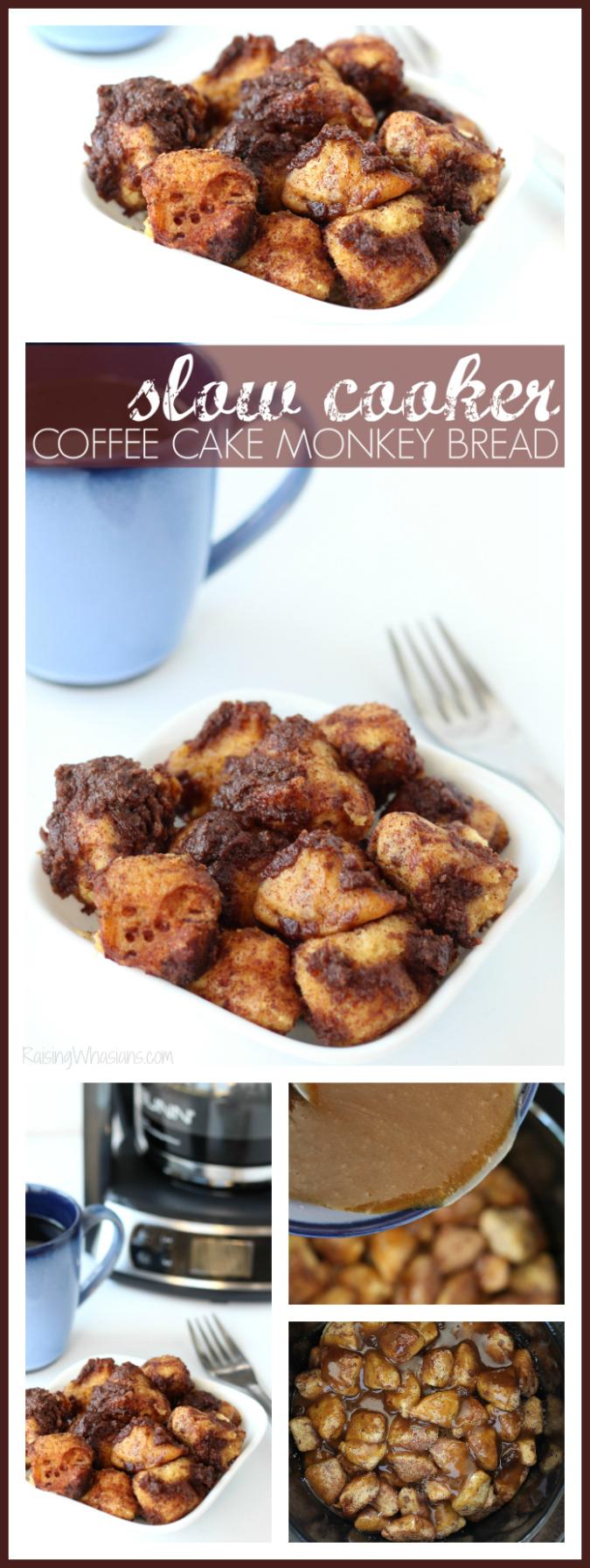 Slow cooker coffee cake monkey bread pinterest