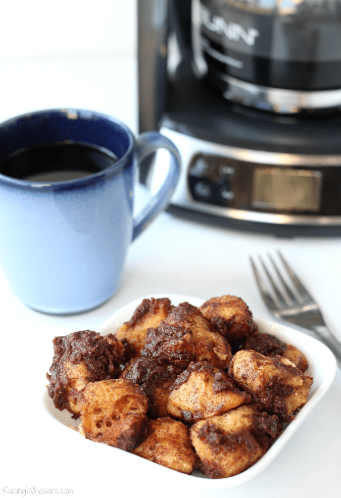 Slow Cooker Coffee Cake Monkey Bread #PerfectCoffeeatHome | Pair this delicious slow cooker breakfast for the holidays with coffee made with BUNN - THis easy breakfast recipe will save time in the kitchen and let you enjoy the holidays together #Breakfast #SlowCooker #Recipe #SlowCookerRecipe