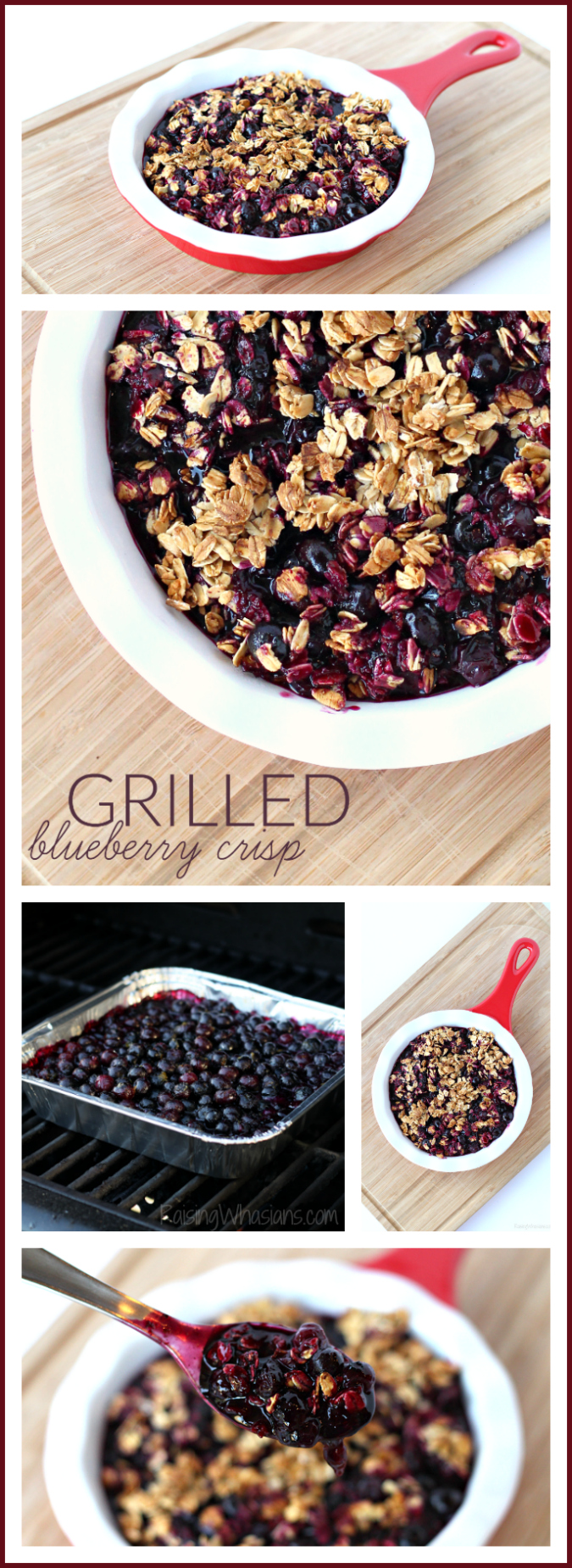 Easy grilled blueberry crisp pinterest Fire up the grill for this Easy Grilled Blueberry Crisp Recipe - a perfect dessert idea that's gluten-free, allergy friendly and Fresh from Florida! #Recipe #AllergyFriendlyRecipe #Recipe #FreshFromFlorida #Dessert #GlutenFree