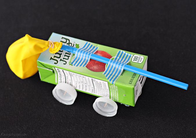 Juice box stem craft