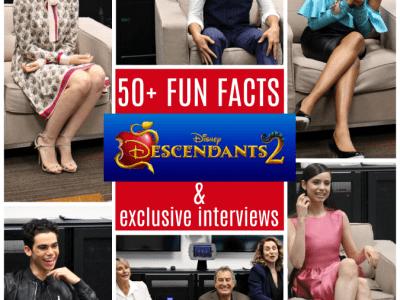 Descendants 2 interviews fun facts
