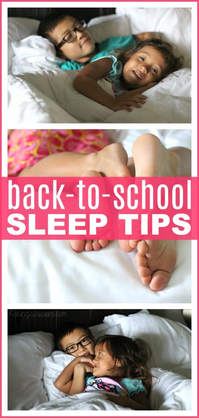 Back-to-school sleep tips pinterest