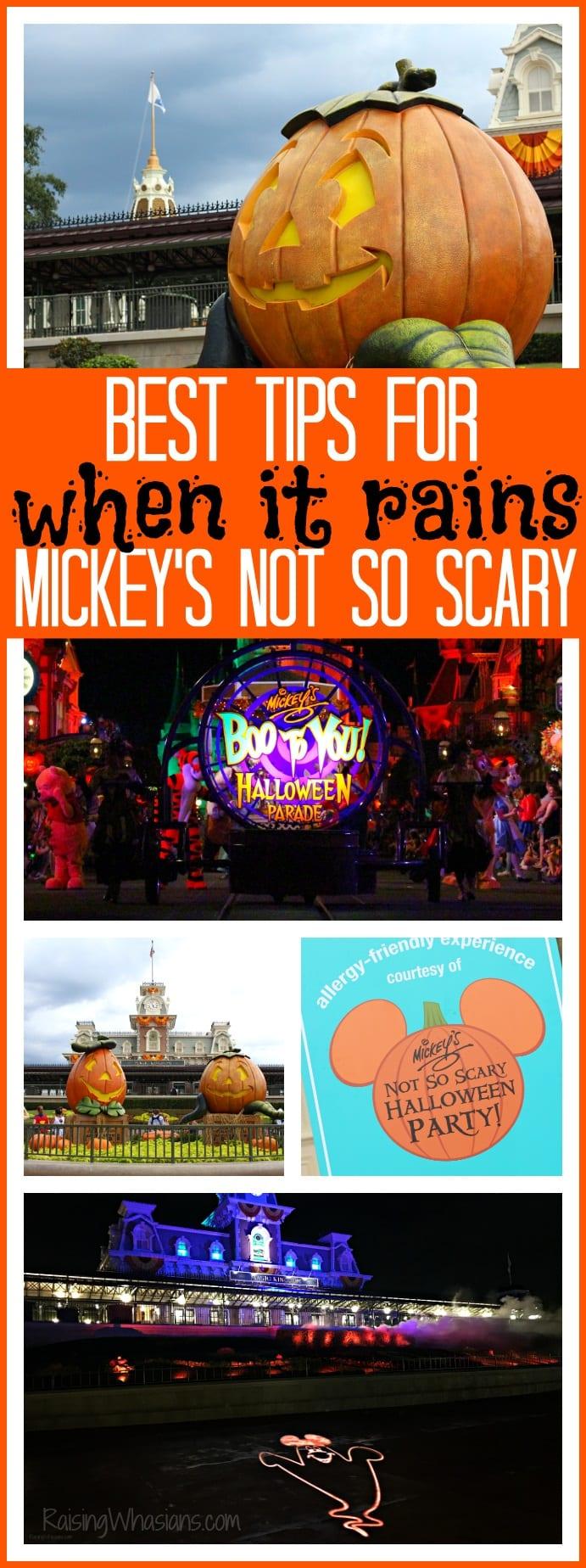 Best tips when it rains Mickey's not so scary pinterest