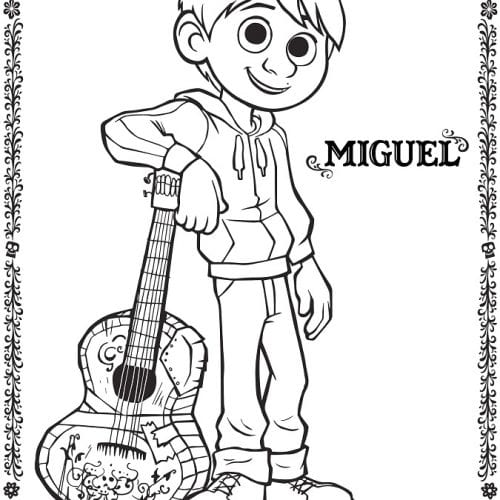 Free Coco coloring sheets