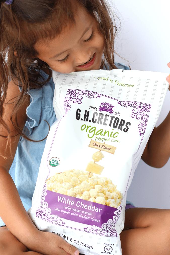 GH Cretors organic white cheddar