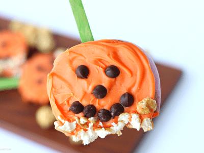 Pumpkin apple pop snack