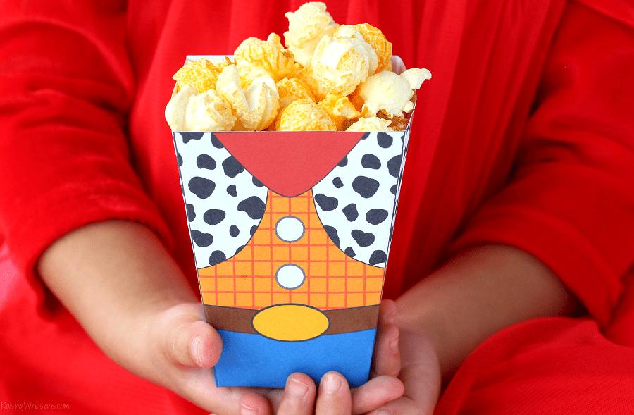 Toy story free printable popcorn box