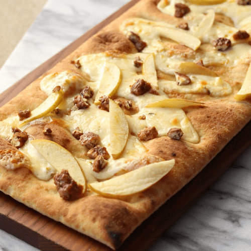 Easy apple pepper jack flatbread