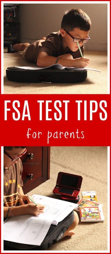 FSA test tips for parents