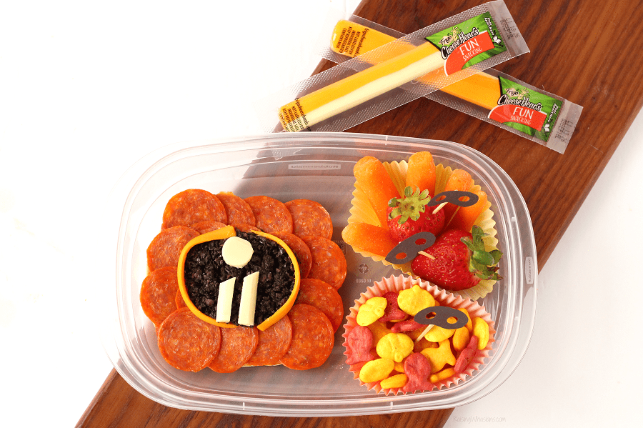"""Easy Incredibles 2 Bento Box Idea + """"Super"""" Cute Food Picks 