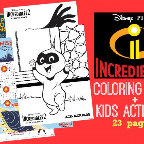 Free Incredibles 2 coloring sheets