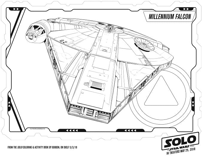 Free solo coloring pages