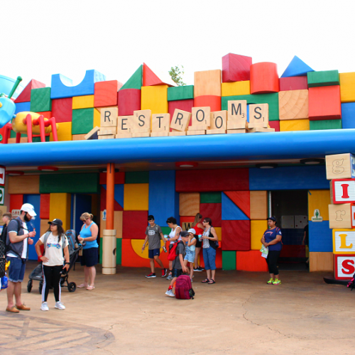 Toy story land cooties restrooms