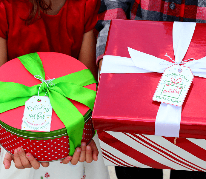 Free Christmas cookie tags