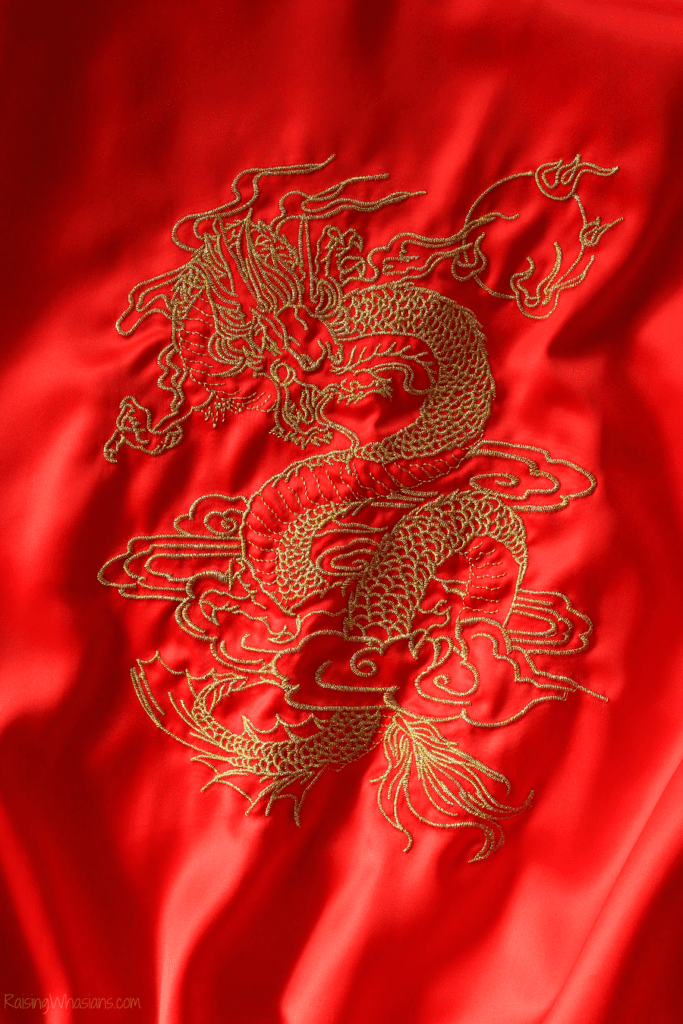 Comfy princess Mulan jacket details
