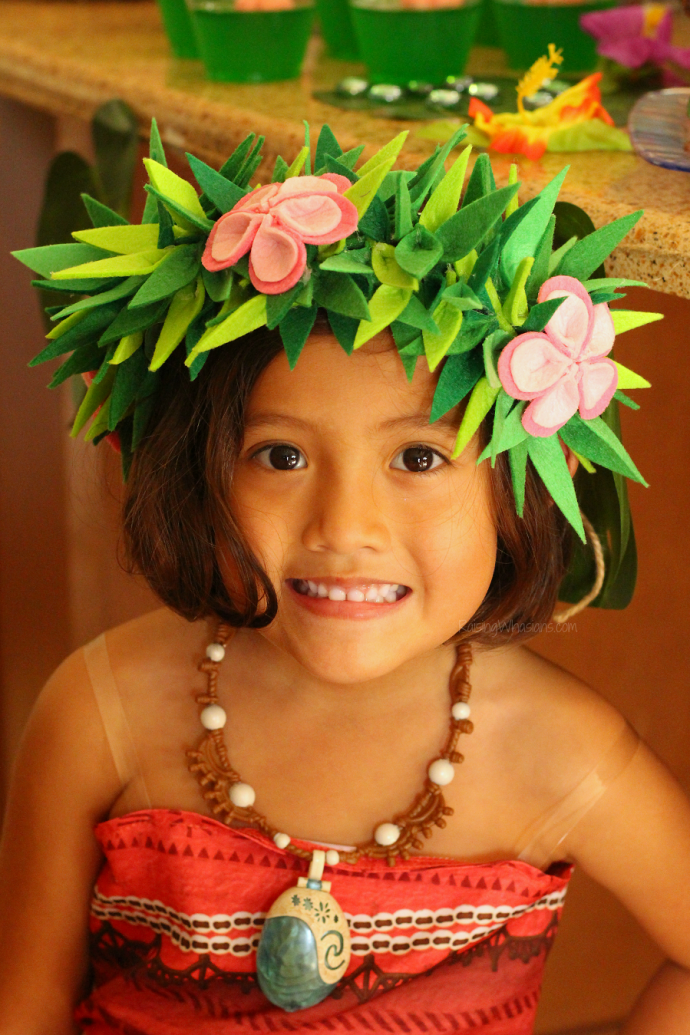 Moana flower crown DIY