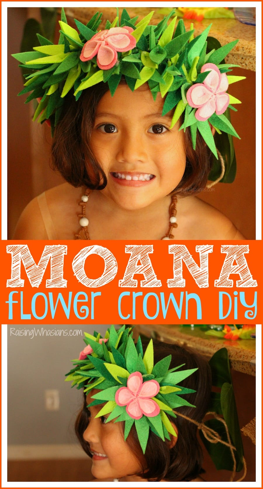 Moana kids craft
