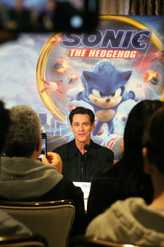 Jim Carrey sonic the hedgehog interview
