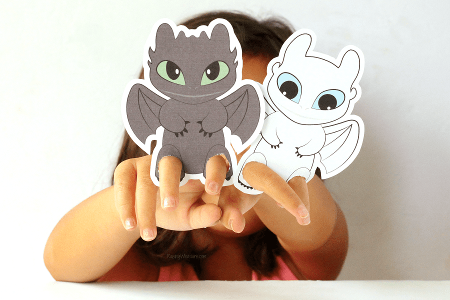 Free printable HTTYD puppets