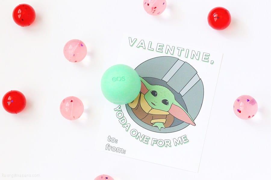 Free baby yoda valentine