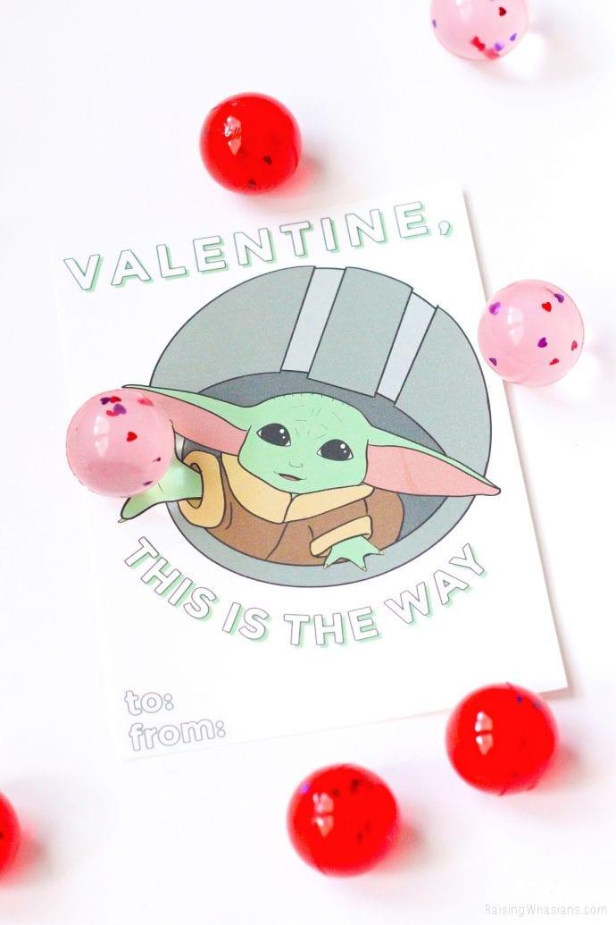 Free Grogu valentines