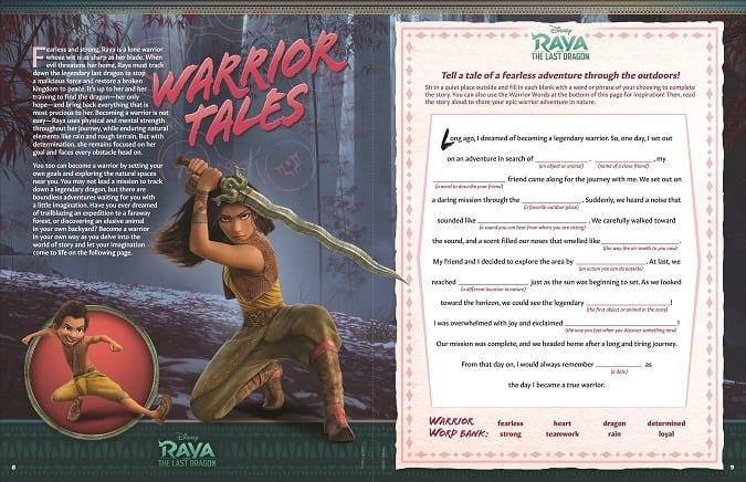 Free printable Raya game