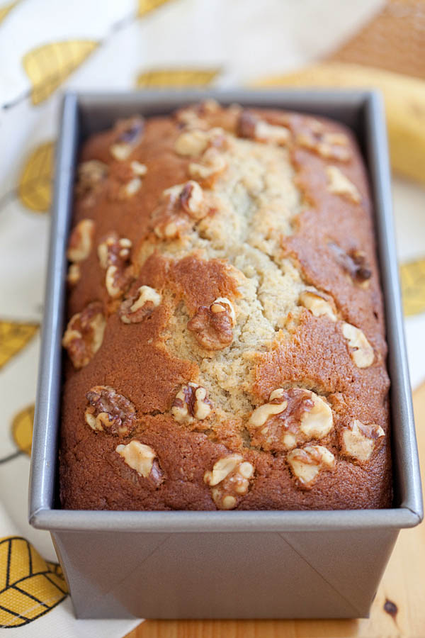 Banana Bread   Easy Delicious Recipes Banana bread     best homemade banana bread recipe ever  Moist  buttery   aromatic and