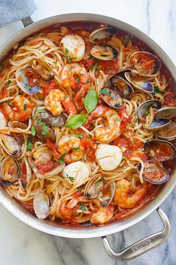 One Pot Seafood Pasta Rasa Malaysia