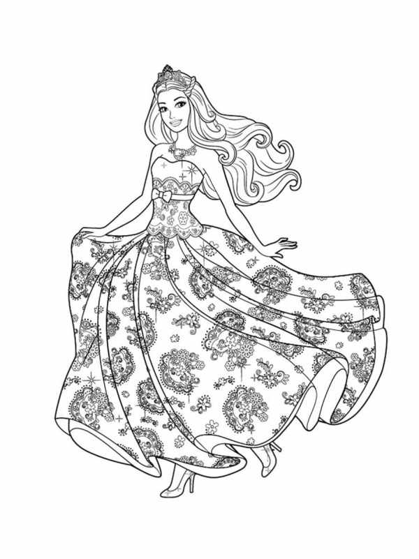 barbie coloring pages # 8