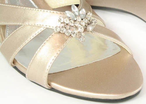 Champagne Wedge Wedding Shoes