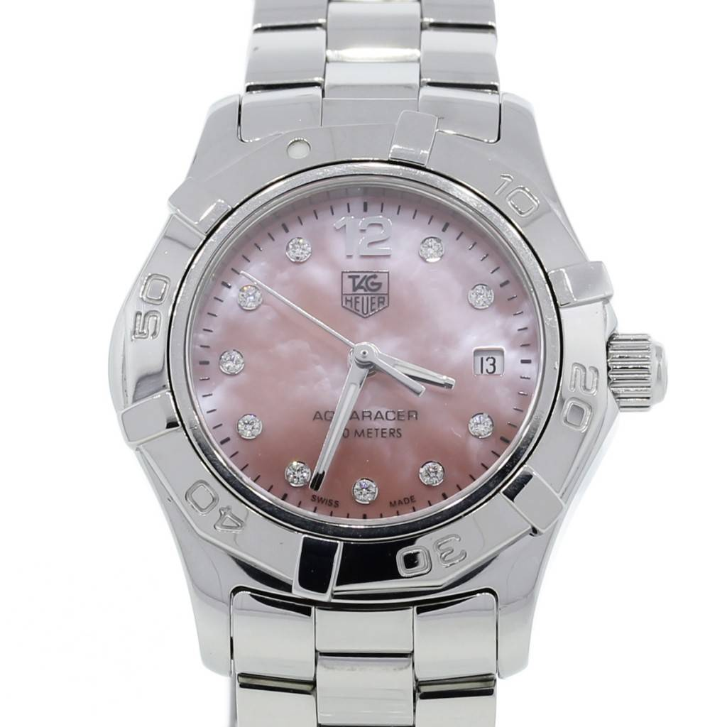 Tag Heuer Ladies Aquaracer Pink Mother Of Pearl Dial Watch