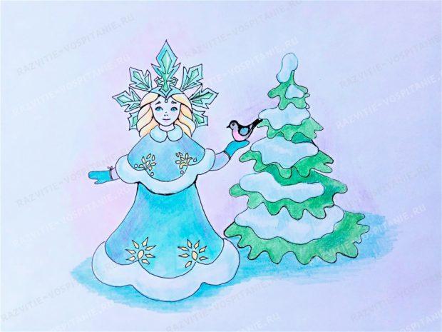 Narysuj stepat Snow Maiden
