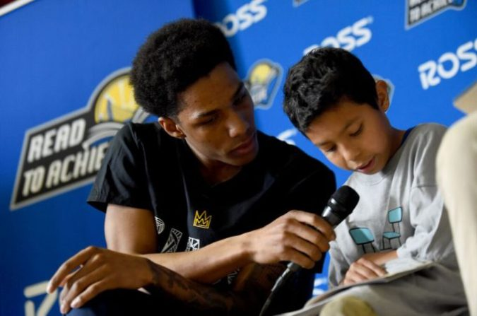 Warriors Read to Achieve Reading Rally  presented by Ross Dress for         Ross Dress for Less  The kids at Sanchez Elementary in San Francisco  could hardly contain their excitement as the Golden State Warriors  Patrick  McCaw