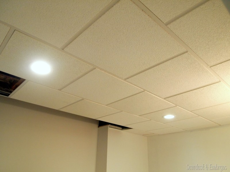 Operation Laundry Room  Lighting    Reality Daydream Drop ceiling with can lights in the laundry room  Sawdust and Embryos