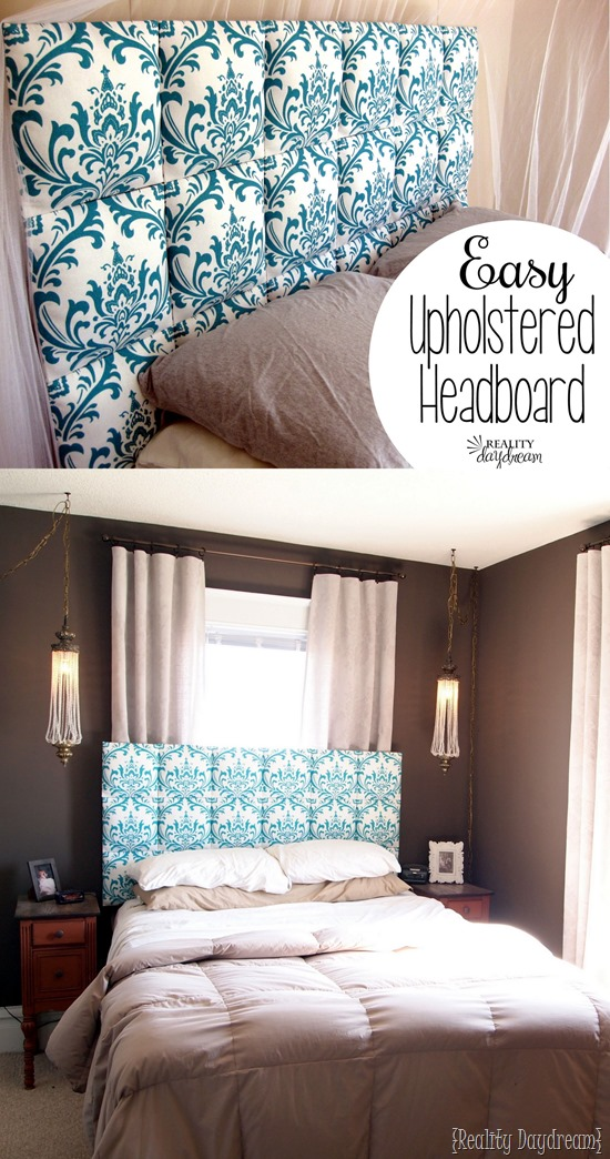 Easy Upholstered Tufter Headboard Tutorial   Reality Day Dream EASY upholstered headboard    no upholstering skills required
