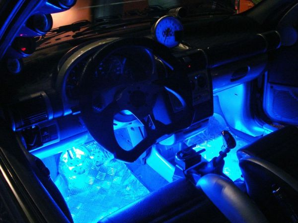 Par De Barras Neon 22 Cm Pedaleira Som Tapete Moto Tuning