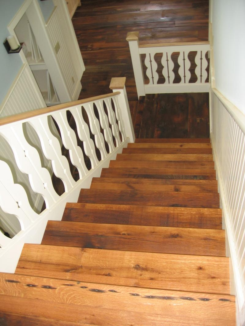 Relaimedbarns Com Stair Cases Treads And Trim | Reclaimed Oak Staircase For Sale | Spindles | Reclaimed Wood Stair Railing | Spiral Staircase | White Oak | Architectural Salvage